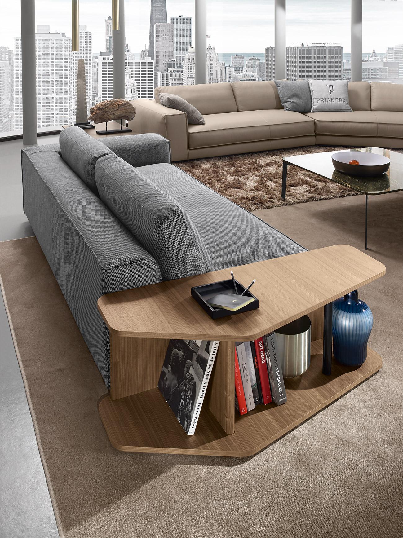 wooden side table for books, sofa side table real wood, xilino trapezaki dipla apo kanape,