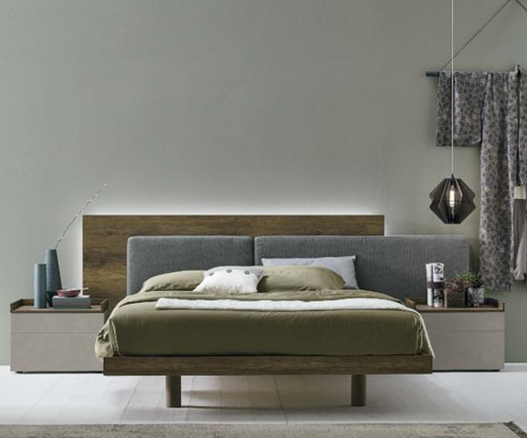 extreme headboard fabric and wooden bed, different height headbord bed with wood and fabric, krevati me extreme kefalaria, monterno krevati gia domatio, wooden high legs bed, bedroom modern, vintage and modern bed, xilini kefalaria se sindiasmo me ifasma
