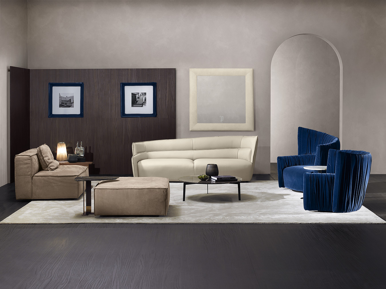 leather 3-seater sofa for living room, white leather sofa, blue velvet armchairs with horizontal lines, brown leather sofa with its own puff, mple veloudes polithrones, aspros dermatinos kanapes, kafe dermatinos kanames xoris podia, kanapes xoris podia, s