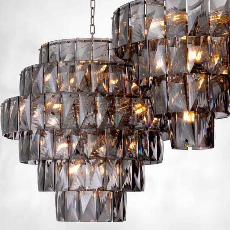 close up crystal ceiling light chandelier, kontino se kristalino fotistiko,