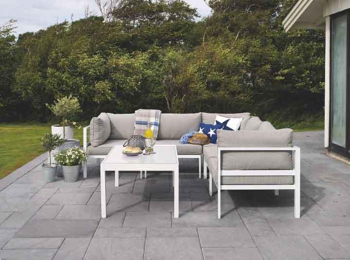 outdoor sofa set, aspro alouminio salonaki exoterikou xorou, aluminium white outdoor sofa set, high quality outdoor aluminium sofa and coffee table set