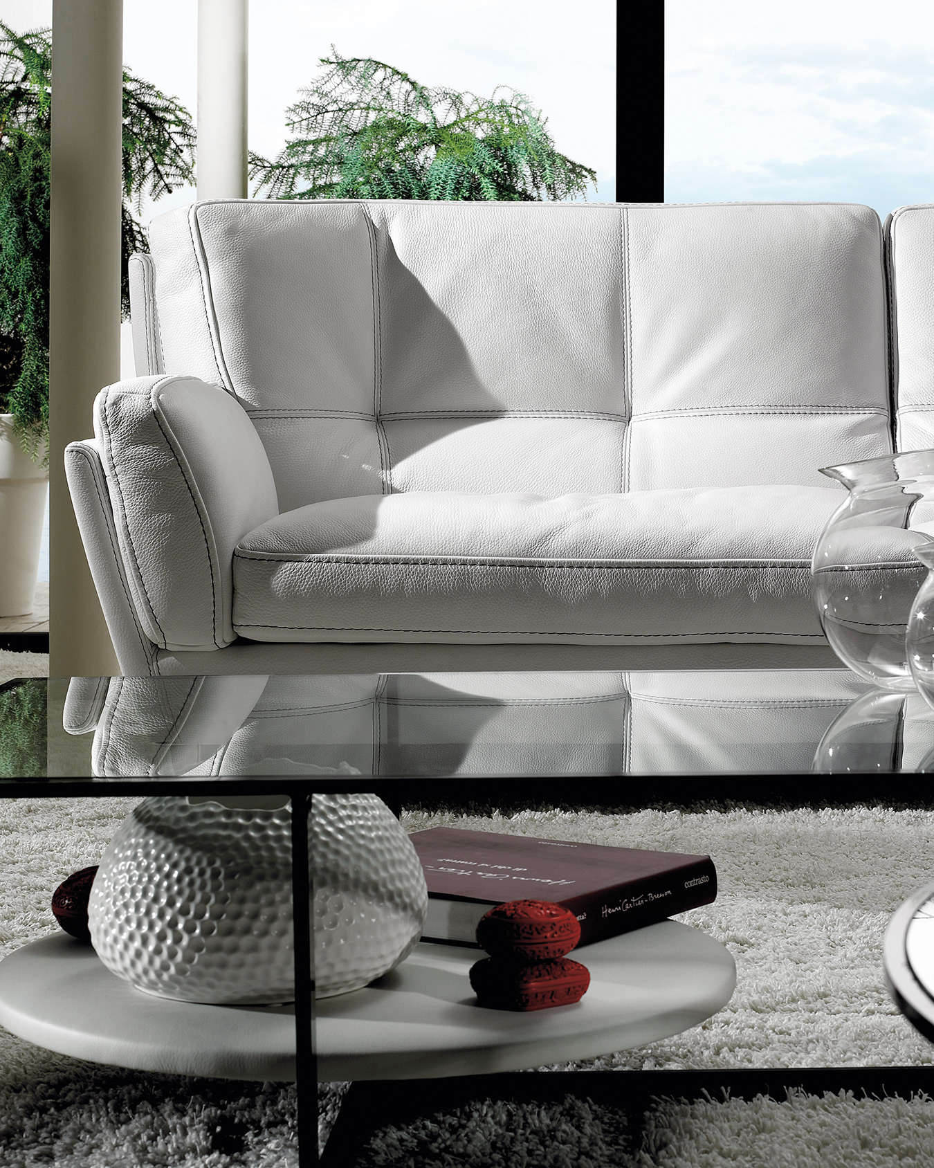 white leather bed, comfy white leather sofa close up view, simple white leather white sofa,