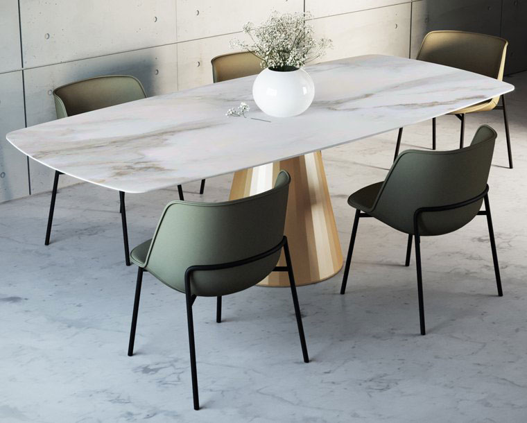 table, modern table, gold leg table, white table, trapezi, chairs, karekles, dining table, kitchen table, andreotti, andreotti furniture, epipla, furniture, limassol, cyprus