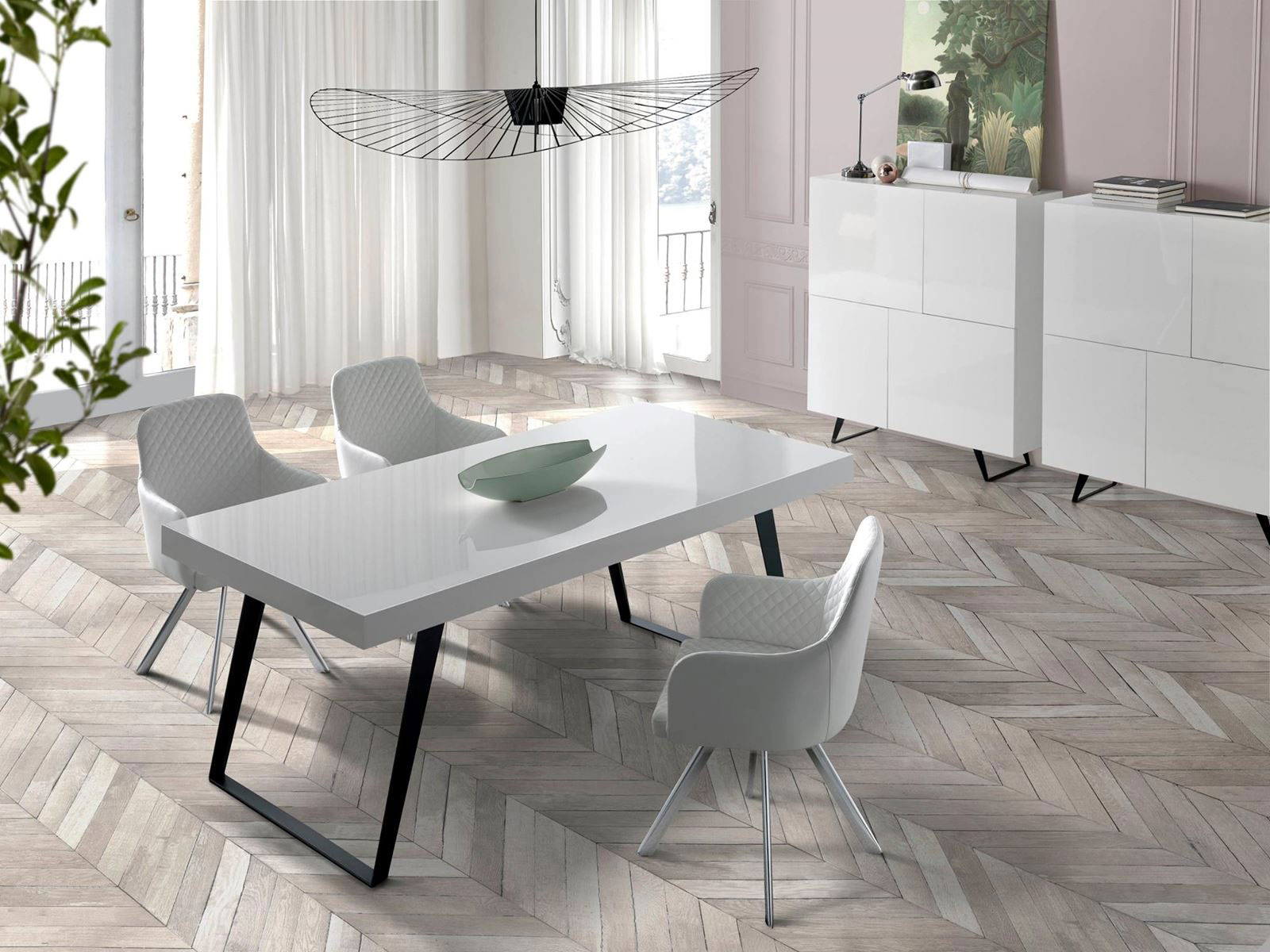 table, modern table, white table, trapezi, chairs, white chairs, karekles, console, konsola, bookshelf, dining table, kitchen table, andreotti, andreotti furniture, epipla, furniture, limassol, cyprus