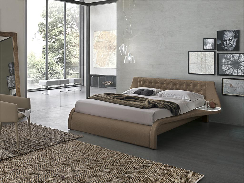 beige capitone bed, bed with its own table sides, beige leather big size bed, 1.80cm , capitone krevati, dermatino kapitone krevati, small headboard capitone krevati,