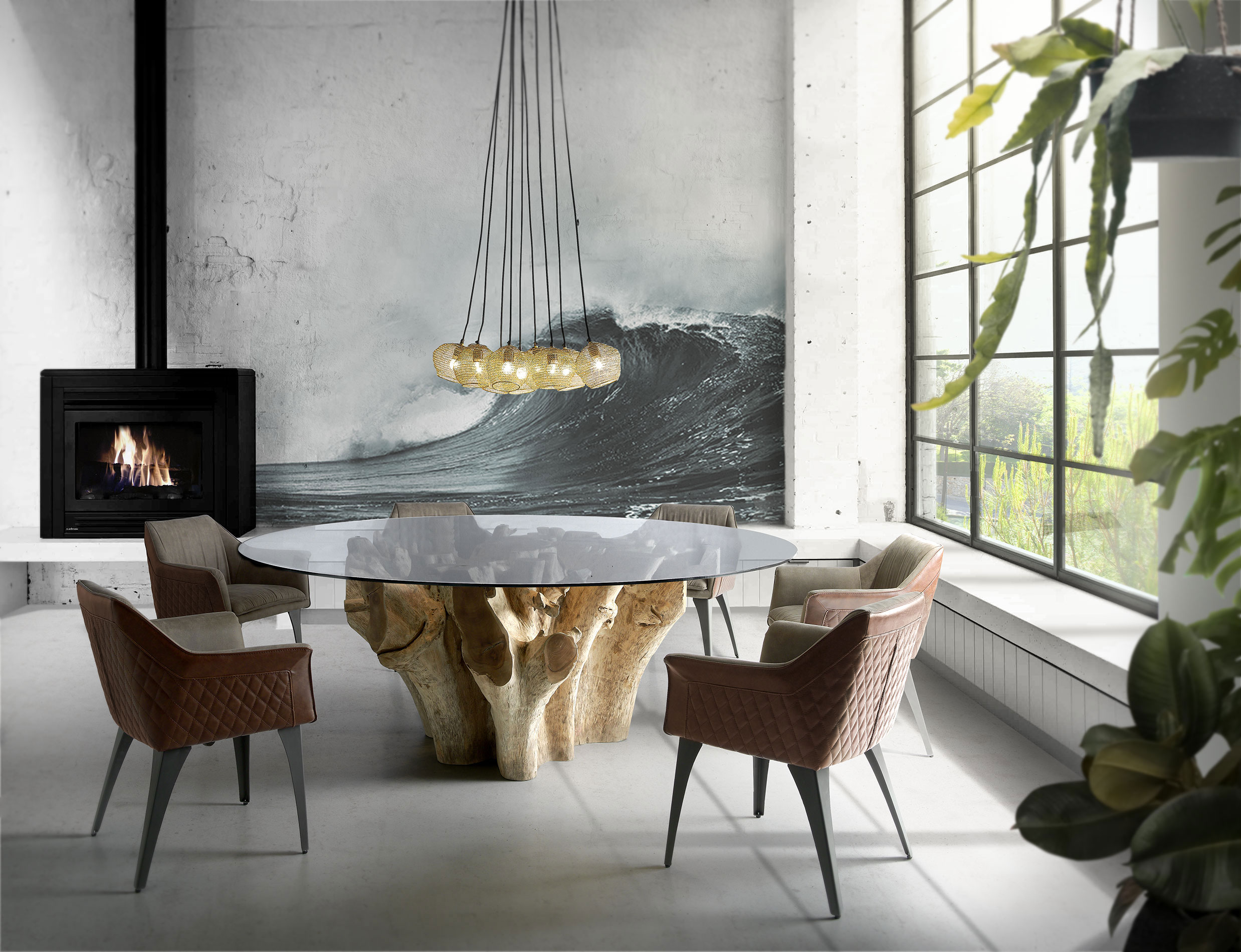 table, modern table,wooden legs table,round table, trapezi, chairs, karekles, dining table, kitchen table, andreotti, andreotti furniture, epipla, furniture, limassol, cyprus