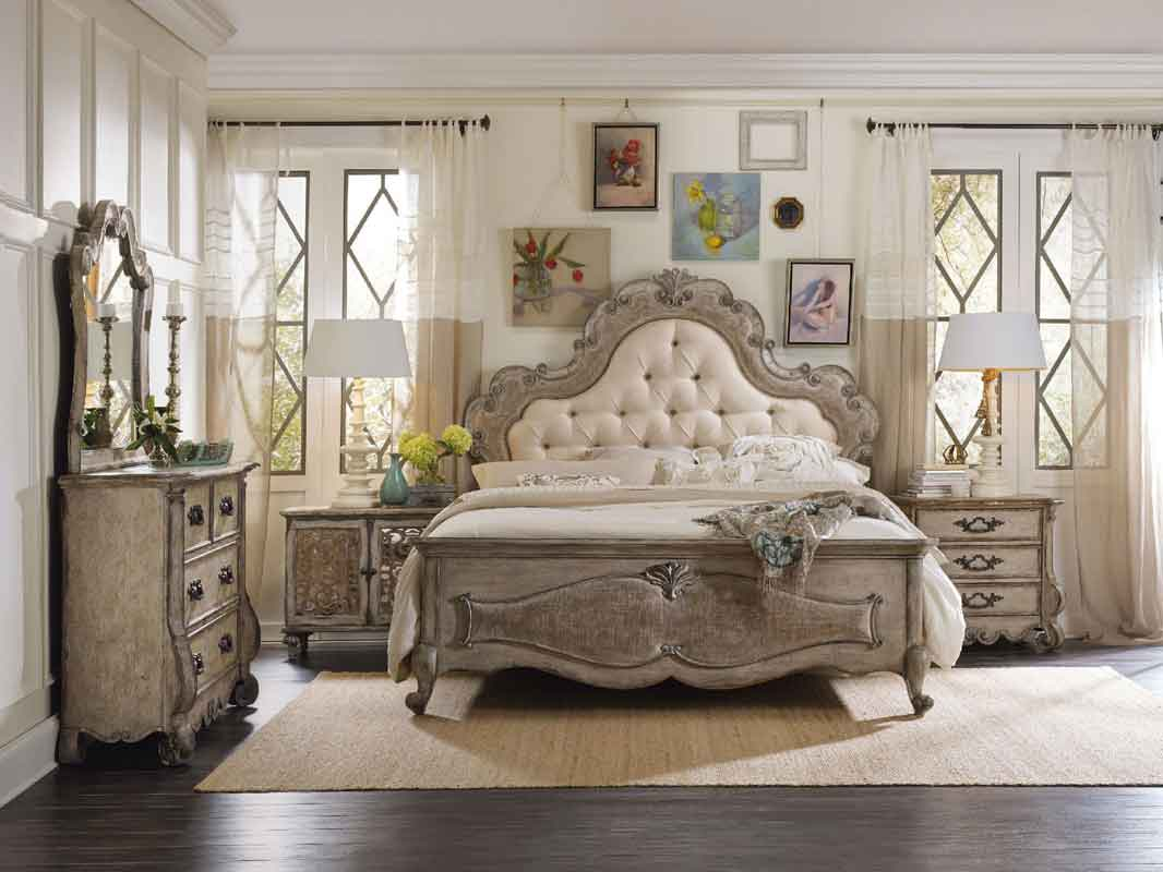 grey vintage headboard with cushioned headboard and wooden on its end with wooden legs classic vintage modern bed, klassiko palaio monterno me maxilari capitone apo piso me xilina klassika podia,