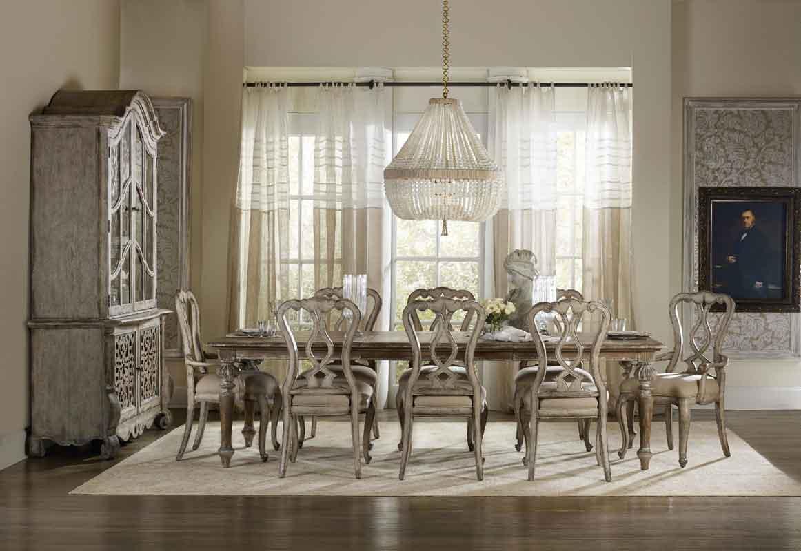 wooden rectangular dinning table with extreme style vintage classic chairs, palaio orthogonio megalo trapezi klassiko me xilines karekles,