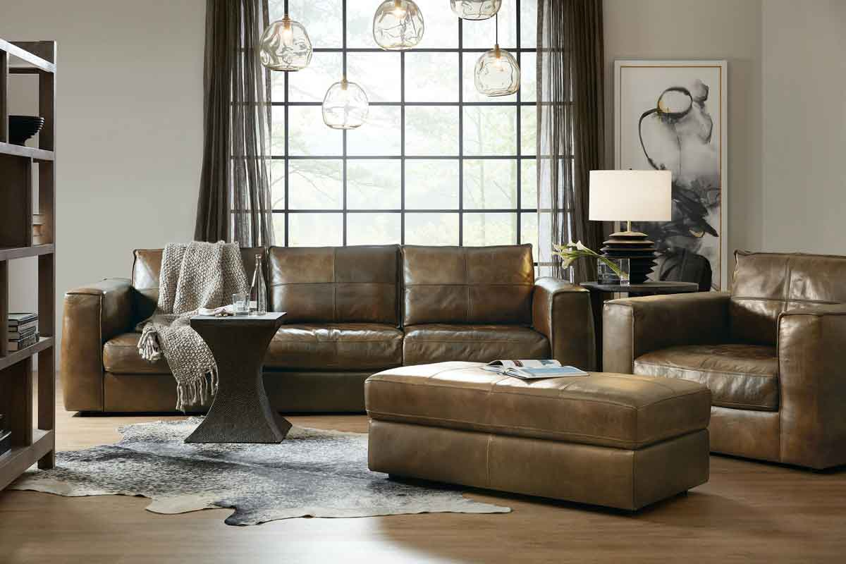 broen leather sofa 5 seater with its matching armchair and pouffe, side table vintage style,
