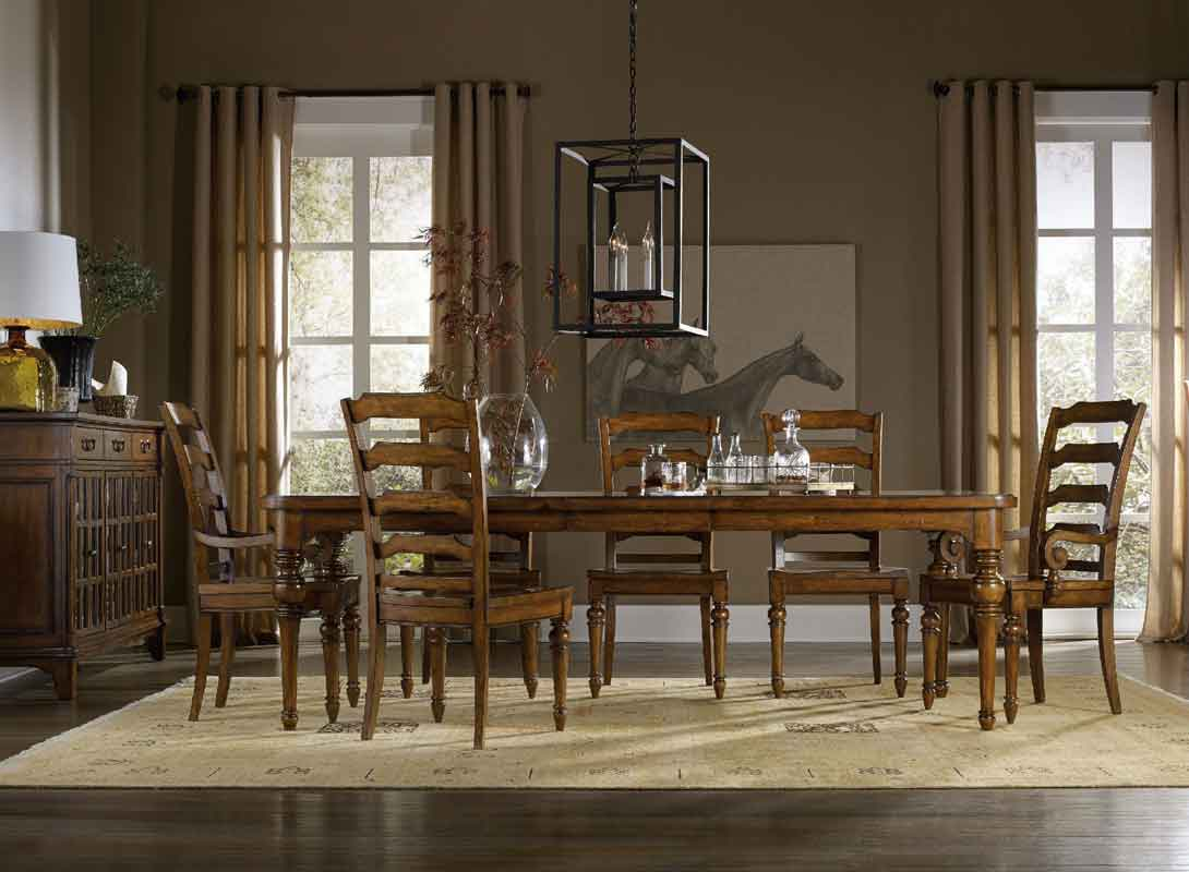 wooden classic rectangular table with classic style dinning chairs, klassiko trapezi me xilines karekles,