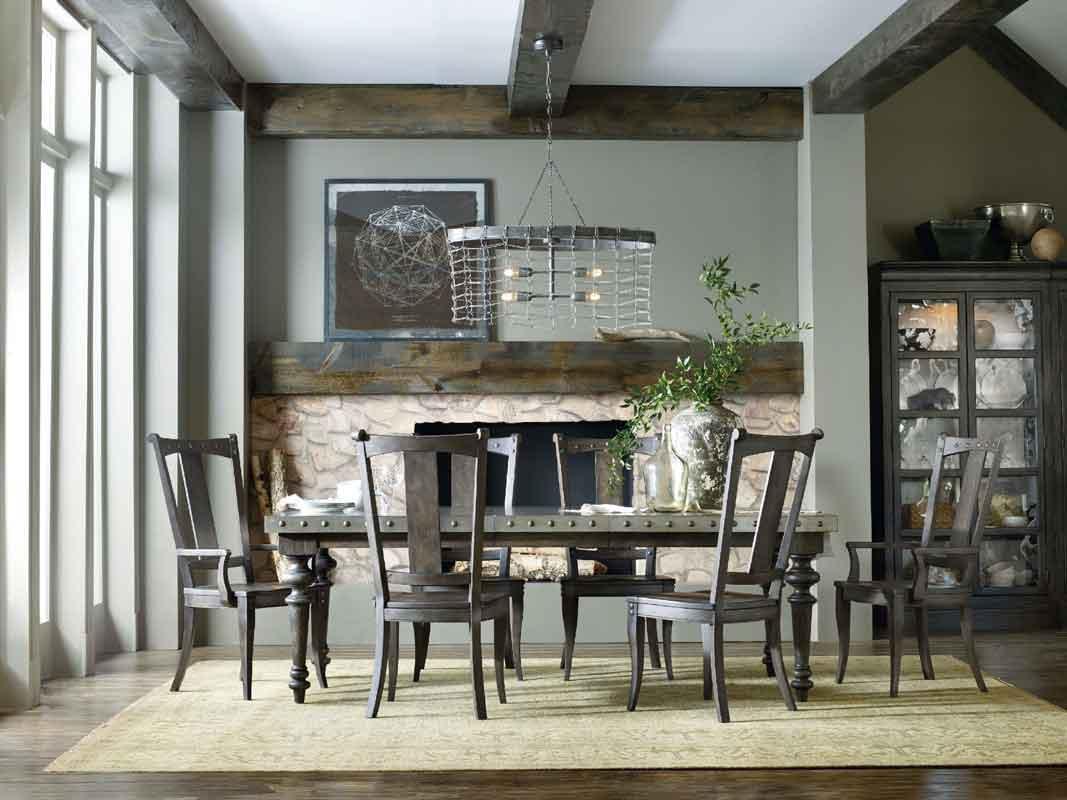 vintage style rectangular dinning table with grey wooden dinning chairs, klassiko trapezi orthogonio me klassikes karekles me gkrizo xilo,