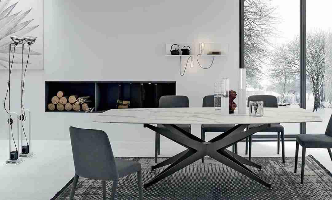 dining table, trapezaria, white marble, aspro marmaro, modern table, chairs, karekles, trapezaria kathistiko, andreotti, furniture, cyprus, limassol, epipla