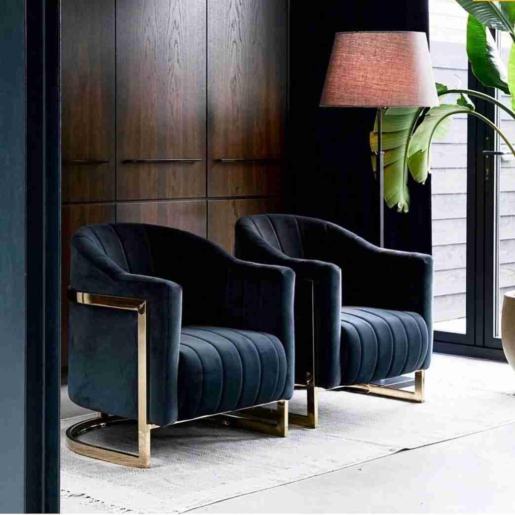 armchairs, polithrones, blue armchair, golden legs, xrisa podia, classic, modern, andreotti, furniture, cyprus, limassol, epipla
