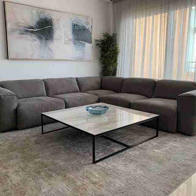 sofa, kanapes, brown sofa, trapezaki, coffee table, carpet, xali, modern, deliver to ayianapa, andreotti, furniture, cyprus, limassol, epipla