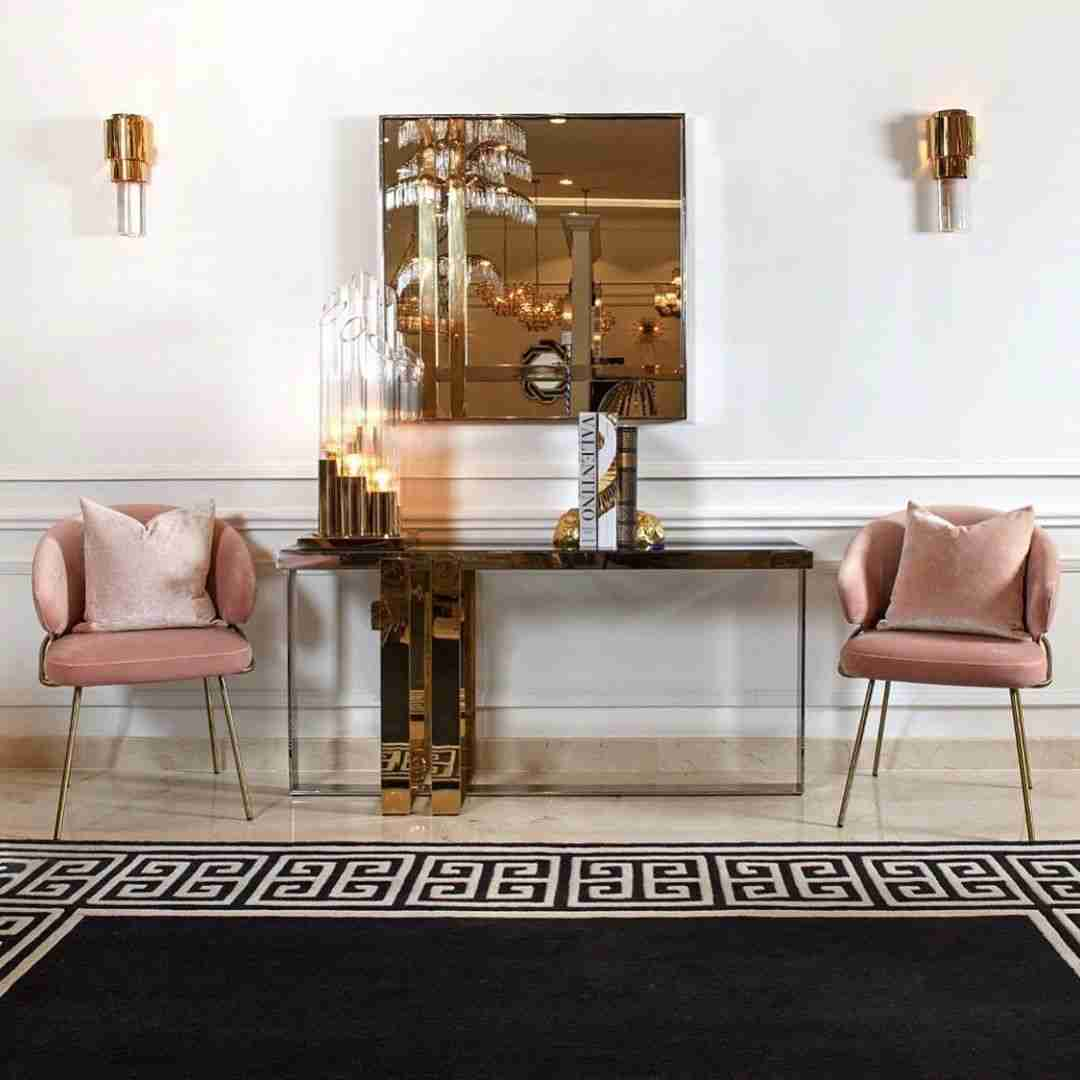 konsola, console, mirror, kathreftis, rose and gol, accessories, chairs, karekles, rose chairs, andreotti, furniture, cyprus, limassol, epipla
