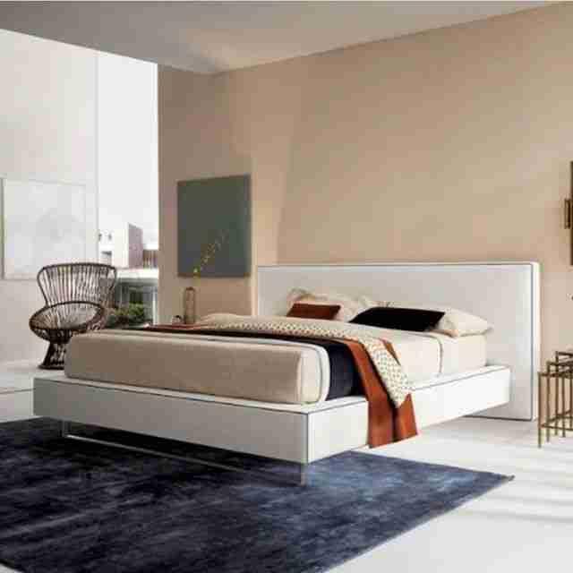 bed, krevati, white bed, white, aspro krevati, night stand, komodino, andreotti, furniture, cyprus, limassol, epipla