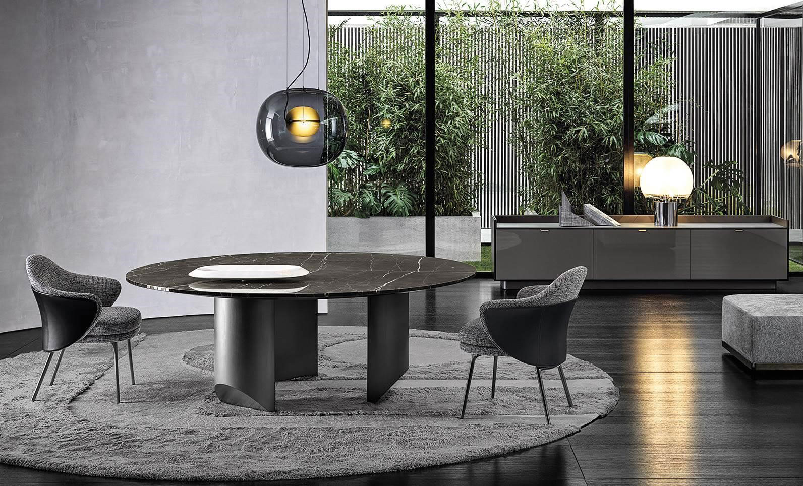 table, modern table, black table, trapezi, chairs, karekles, console, konsola, dining table, kitchen table, andreotti, andreotti furniture, epipla, furniture, limassol, cyprus