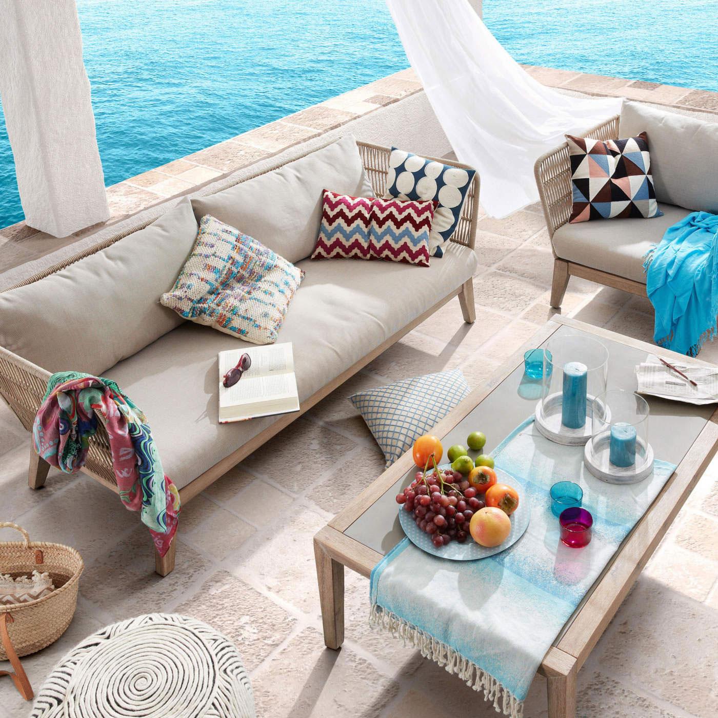 aluminium sofa set, outdoor furniture comfy living set, pool side sofa, salonaki nude, sofa living set nude colours, trapezaki me kanape exoterikou xorou, comfy and stylish modern sofa set