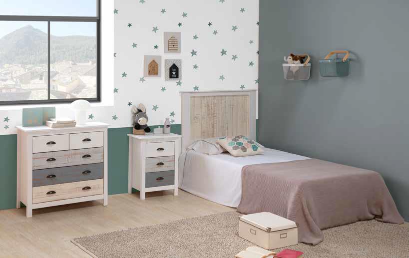 mono paidiko krevati gia koritsaki kai agoraki, single bed for both boy and girl, wooden white natural colors,