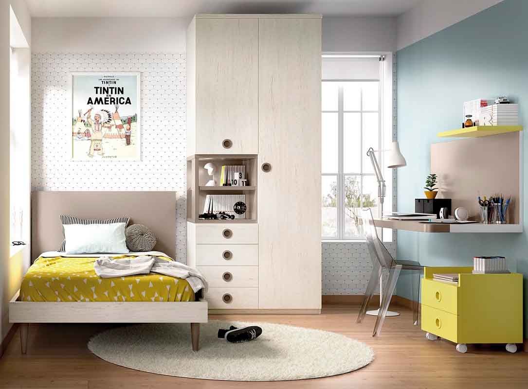 wooden kids bed with camel legs and headboard, krevati mono paidiko me psila podia kai psili kefalaria,