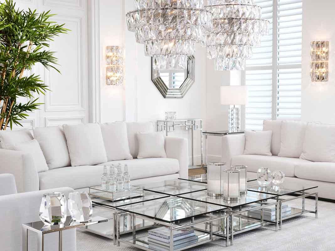 silver legs square coffee tables with white comfy sofas with no legs, anetoi megaloi kanapedes me asimenia trapezakia tetragona,