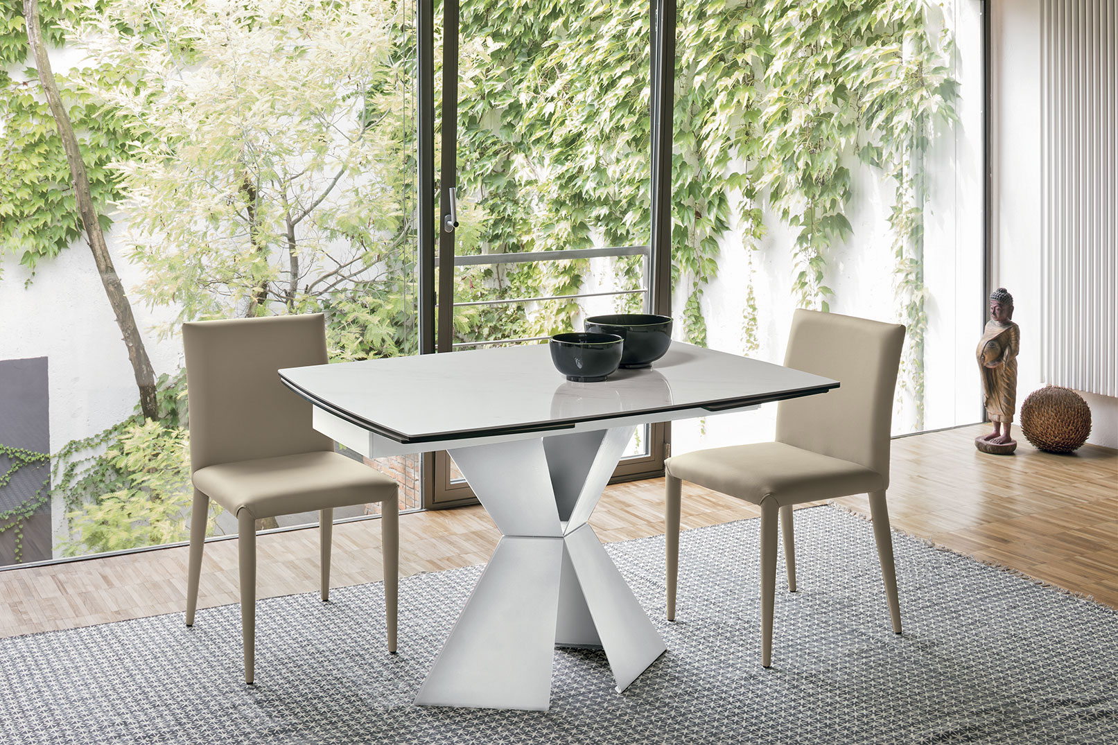 table, modern table, white table, trapezi, chairs,  karekles, dining table, kitchen table, andreotti, andreotti furniture, epipla, furniture, limassol, cyprus