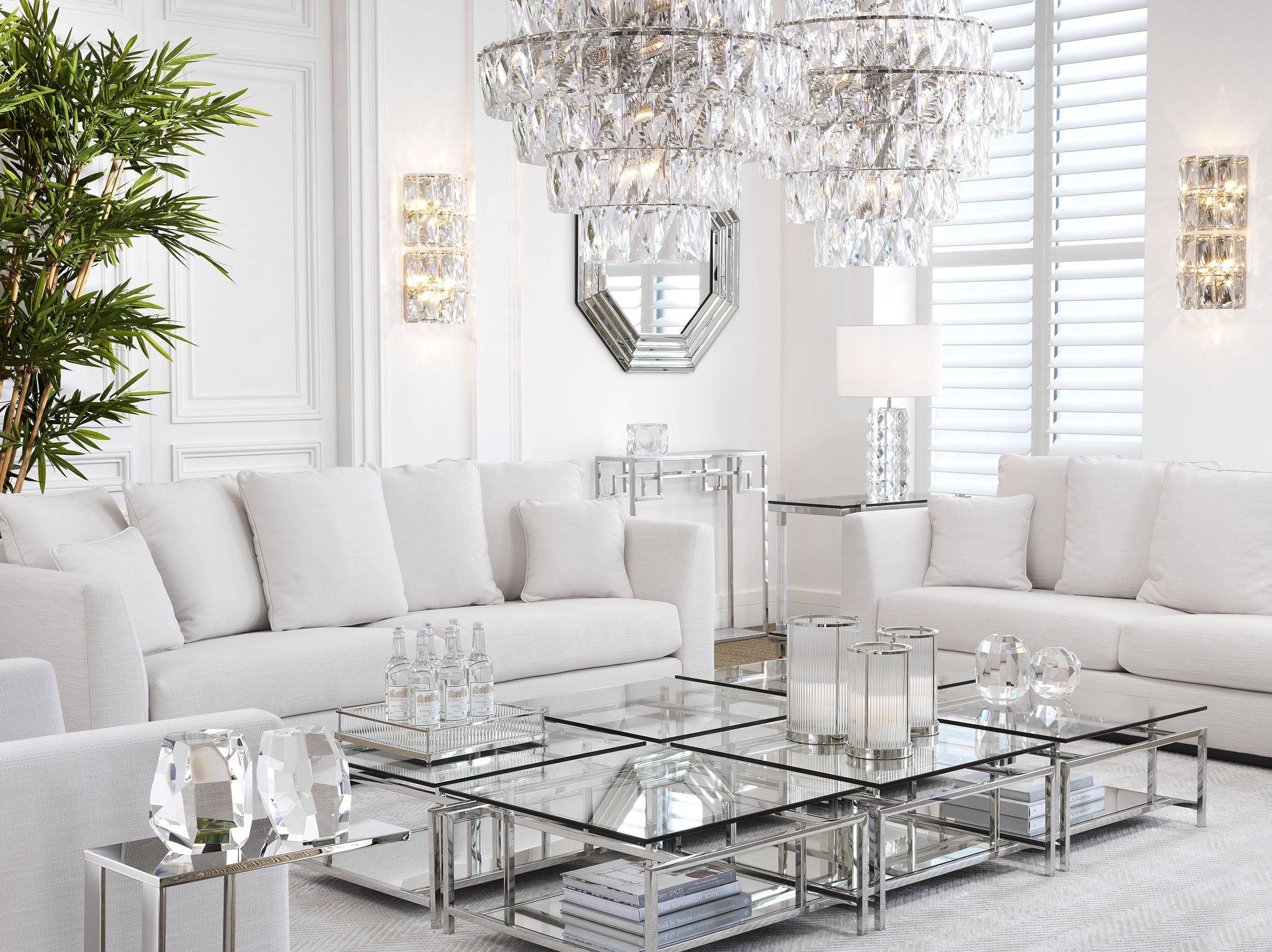 silver legs square coffee tables with white comfy sofas with no legs, anetoi megaloi kanapedes me asimenia trapezakia tetragona,